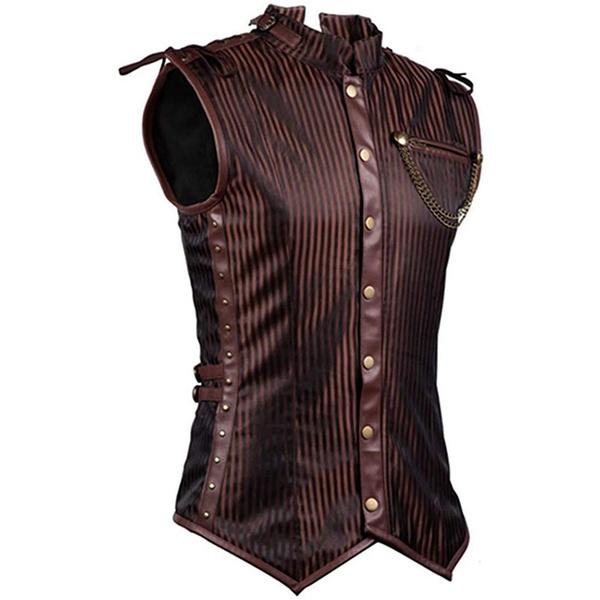 Steel, Vest, Plus Size, steampunkmen