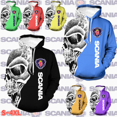3D hoodies, Head, Fashion, printed