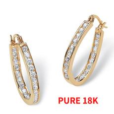 DIAMOND, gold, Cubic, Earrings For Women