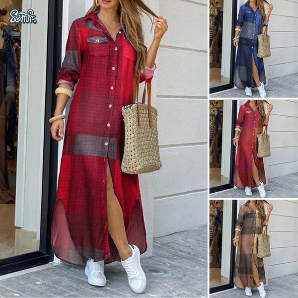 lapel, Fashion, Summer, Long Sleeve