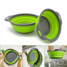 vegetablebasket, Kitchen & Dining, foldingdrainbasket, retractable