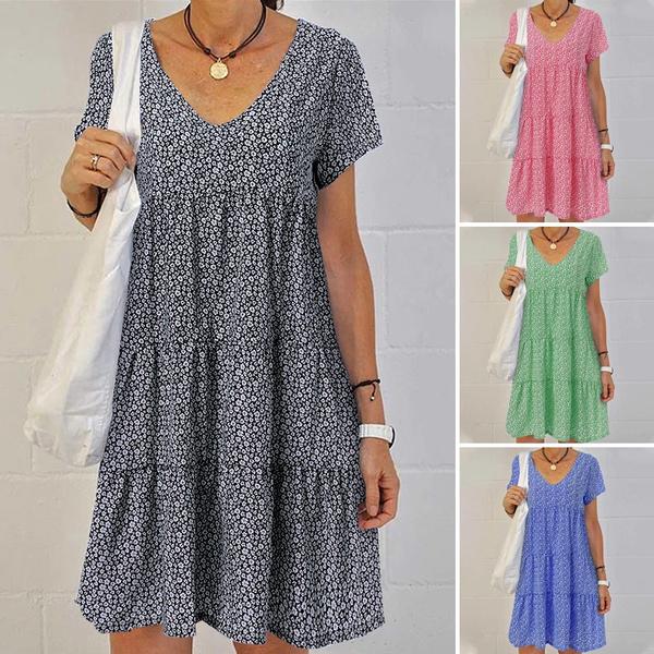 Summer, dressesforwomen, Sleeve, floralprintdres