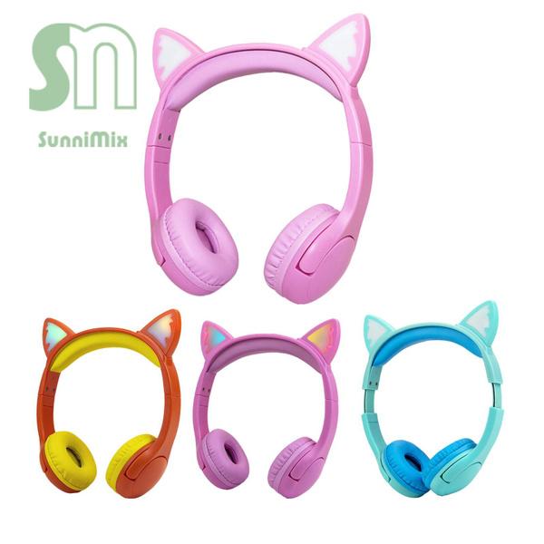 Headphones, School, kids, Cats