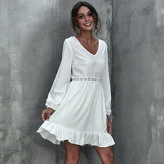summervestidoscasuale, short sleeve dress, cottonlinen, Mini