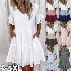 sleeve v-neck, dressforwomen, neck dress, Sleeve