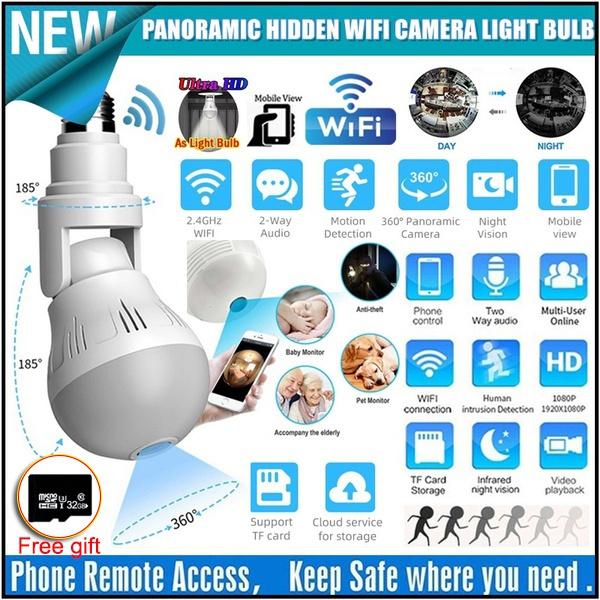 Light Bulb, Spy, led, spycamerawifi