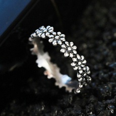Sterling, Fashion, Jewelry, flowerring