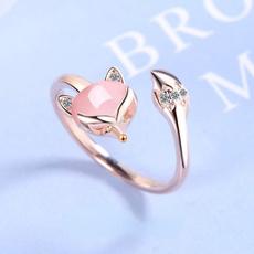 crystal ring, 925 silver rings, gold, Elegant