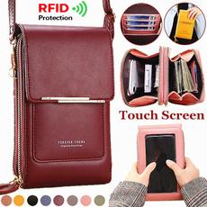 smallshoulderbag, Touch Screen, clutch purse, rfidwallet