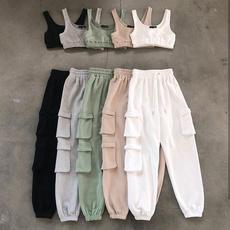Women Pants, Outdoor, crop top, sportsset