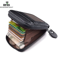 Genuine, Wallet, leather, zippers