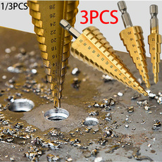 Steel, metalholeopener, powertoolaccessorie, hsstitaniumcoatingstepcone