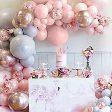 pink, Gray, balloongarland, Garland