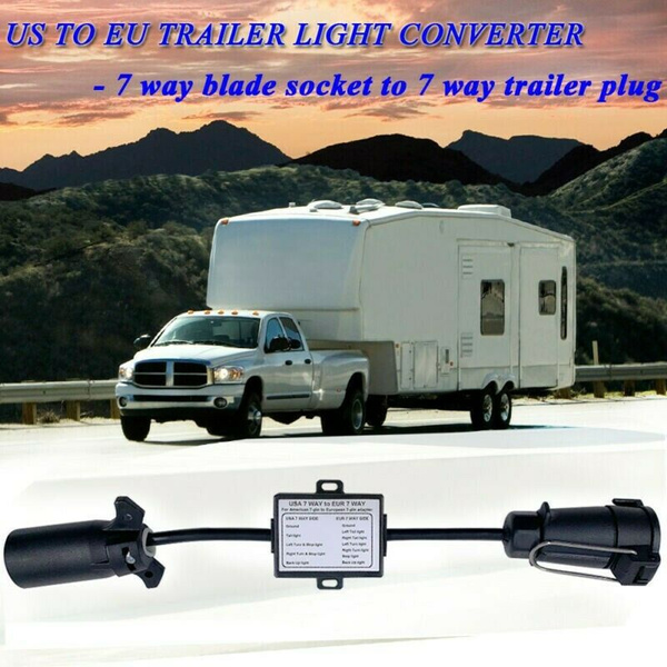 7bladetrailerconnect, 7wayto7roundconverter, trailerlightconverte, Adapter
