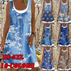 denim dress, Summer, Fashion, Ladies Fashion