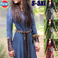 Plus Size, Medieval, Long Sleeve, Cosplay Costume