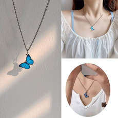 butterfly, clavicle  chain, Fashion, Jewelry