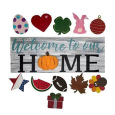 seasonalwelcomedoorsign, Seasonal, interchangeabledoorhanger, Door