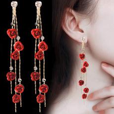 DIAMOND, Wedding, Tassels, Earring