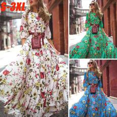 Floral print, chiffon, sundress, Dress