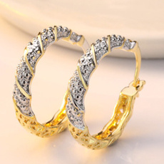 Fashion, gold, wedding earrings, engagementearring