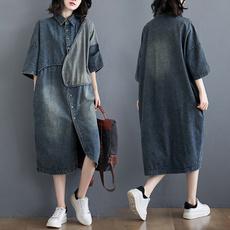 denim dress, womens dresses, long sleeve dress, Sleeve