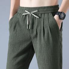 drawstringpant, Summer, elastic waist, cottonpant