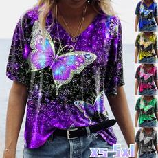 butterflyprint, blouse, Plus Size, butterfly