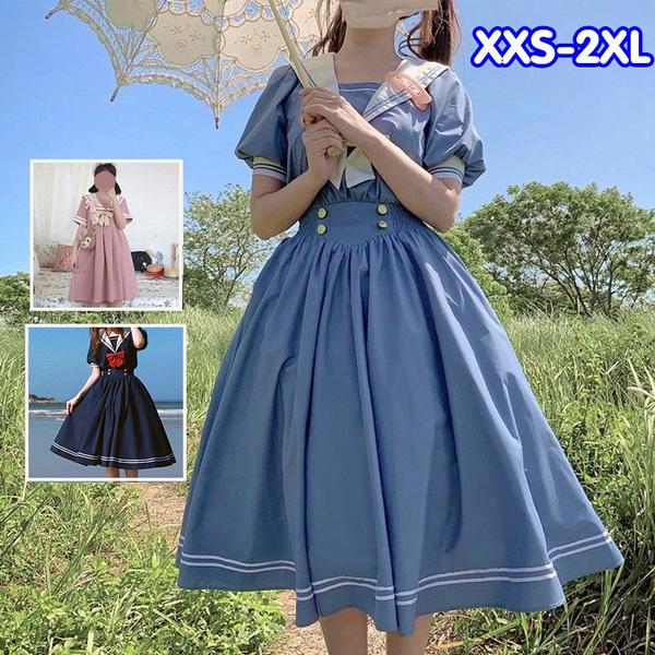 cute, short sleeve dress, ruffle, costumescosplay