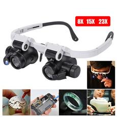 led, magnifierglasse, headwearingmagnifier, Glass