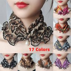 neckscarf, Fashion Scarf, Lace, Silk Scarf