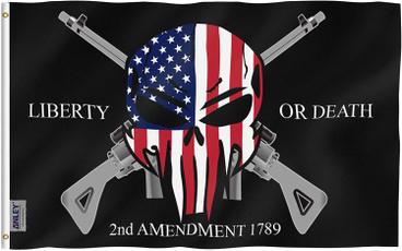 Polyester, 2ndamendmentflag, historicalflag, skull