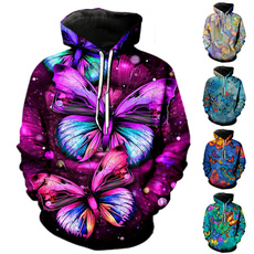 butterfly, 3D hoodies, fashion women, causalhoodie