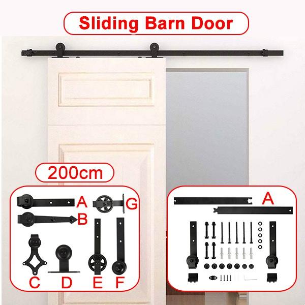 Steel, Door, barndoor, Simple