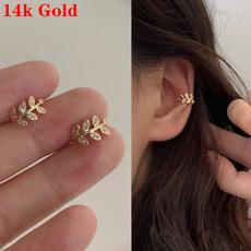 14kgoldearring, Hoop Earring, Jewelry, gold