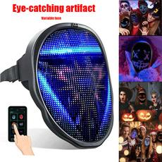 Control, led, maskapp, Máscaras