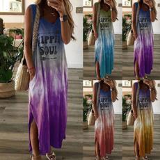 Sleeveless dress, Plus Size, hippie, tiedyedre