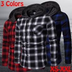 Casual Jackets, cardigan, hooded, Shirt