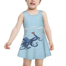 bathing suit, octopusdarkhumorgirlsdressswimsuit, Dress, printingswimsuit