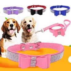 bowknot, adjustabledogleash, Dog Collar, dogchain