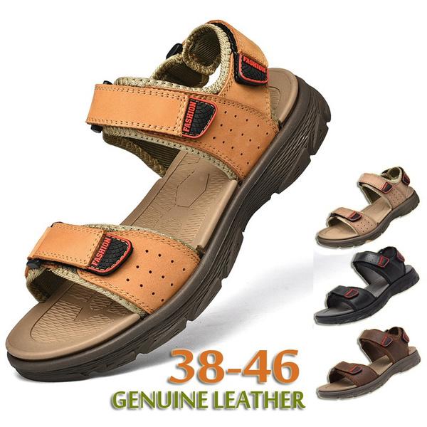 Sandals & Flip Flops, Outdoor, Summer, leather
