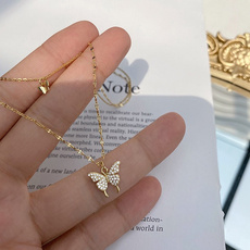 butterfly, Party Necklace, Chain Necklace, Fashion