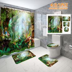 butterfly, Magic, Bathroom, 3dshowercurtain