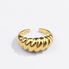 Vintage, twistring, wedding ring, 925 silver rings