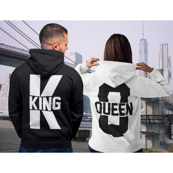 Couple Hoodies, King, couplesmatchingoutfit, Couple