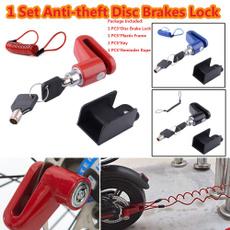 discbrakelock, motorcyclelock, wheelslock, lockaccessoriesset
