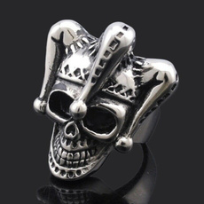 Couple Rings, Steel, Goth, Fashion
