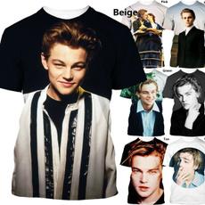 Mens T Shirt, Fashion, leonardodicapriotshirt, Tops