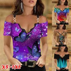 shirtsforwomen, butterfly, off shoulder top, Fashion