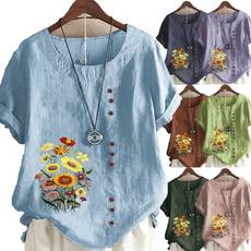 Tops & Tees, Plus Size, Graphic T-Shirt, Women Blouse